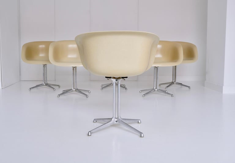 Aluminum Set of 6 DAL 'Dining Armchair La Fonda' by Ray & Charles Eames for Herman Miller For Sale
