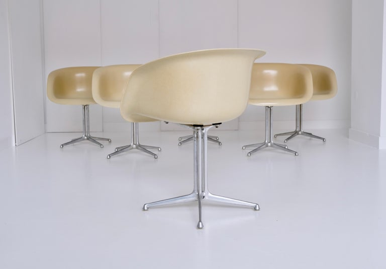 Set of 6 DAL 'Dining Armchair La Fonda' by Ray & Charles Eames for Herman Miller For Sale 1