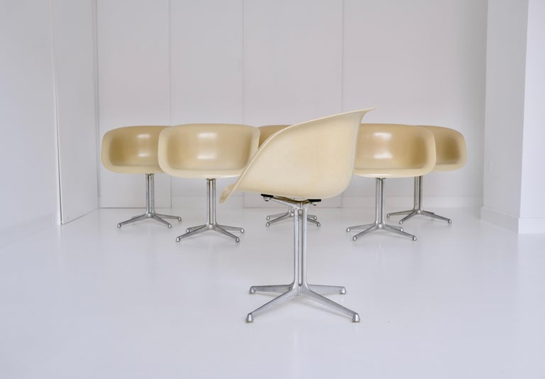 Set of 6 DAL 'Dining Armchair La Fonda' by Ray & Charles Eames for Herman Miller For Sale 2