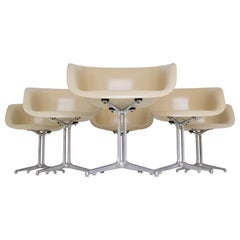 Set of 6 DAL 'Dining Armchair La Fonda' by Ray & Charles Eames for Herman Miller
