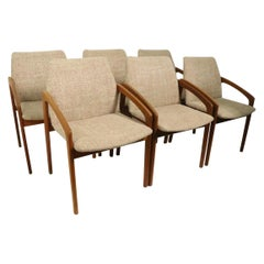 Set of 6 Danish Dining Chairs by Henning Kjaernulf for Korup Stolefabrik