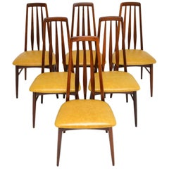 Set of 6 Danish Dining Chairs by Niels Koefoed