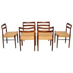 Set of 6 Danish Dining Chairs by Soren Willasden