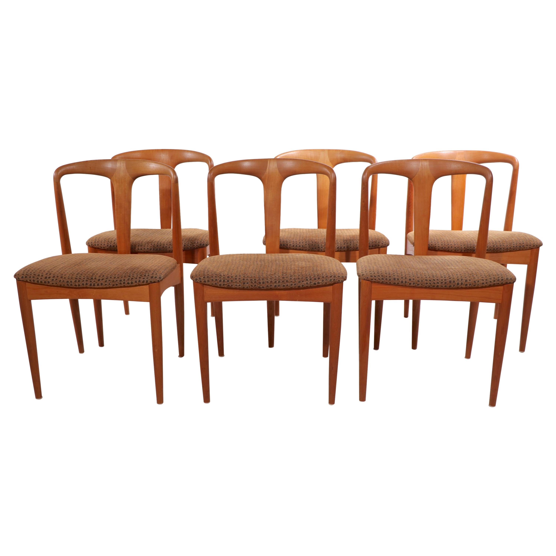 Set of 6 Danish Dining Chairs Juliane by Johannes Andersen Uldum Møbelfabrik