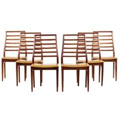 Set of 6 Danish Dining Chairs Scandinavian Design