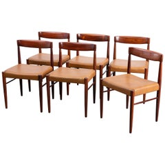 Set of 6 Danish Mid-Century Modern Dining Chairs