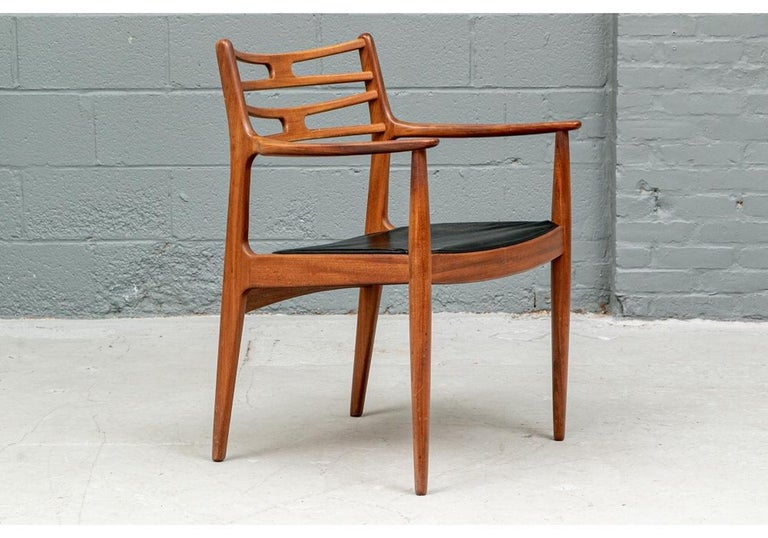 Set of 6 Danish Midcentury Teak Dining Chairs For Sale 8