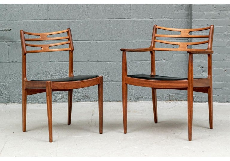 Set of 6 Danish Midcentury Teak Dining Chairs For Sale 9