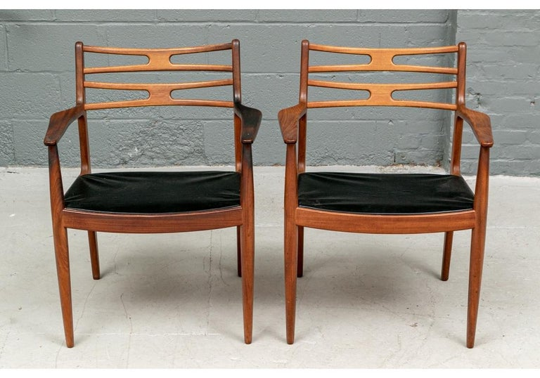 Set of 6 Danish Midcentury Teak Dining Chairs For Sale 10
