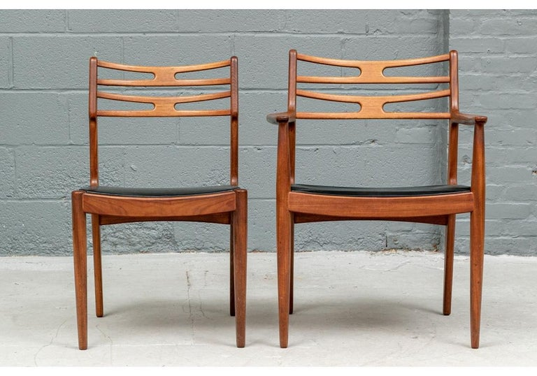 Set of 6 Danish Midcentury Teak Dining Chairs For Sale 12