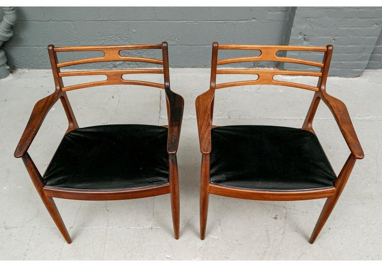 Set of 6 Danish Midcentury Teak Dining Chairs For Sale 15