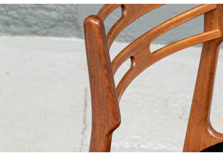 Mid-20th Century Set of 6 Danish Midcentury Teak Dining Chairs For Sale