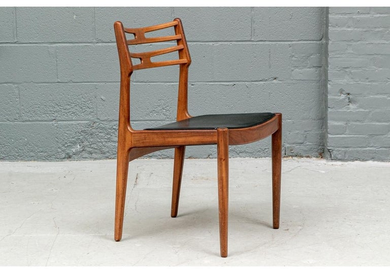 Set of 6 Danish Midcentury Teak Dining Chairs For Sale 1