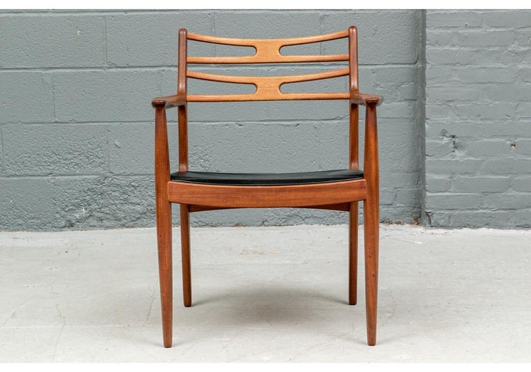 Set of 6 Danish Midcentury Teak Dining Chairs For Sale 2