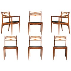 Set of 6 Danish Midcentury Teak Dining Chairs