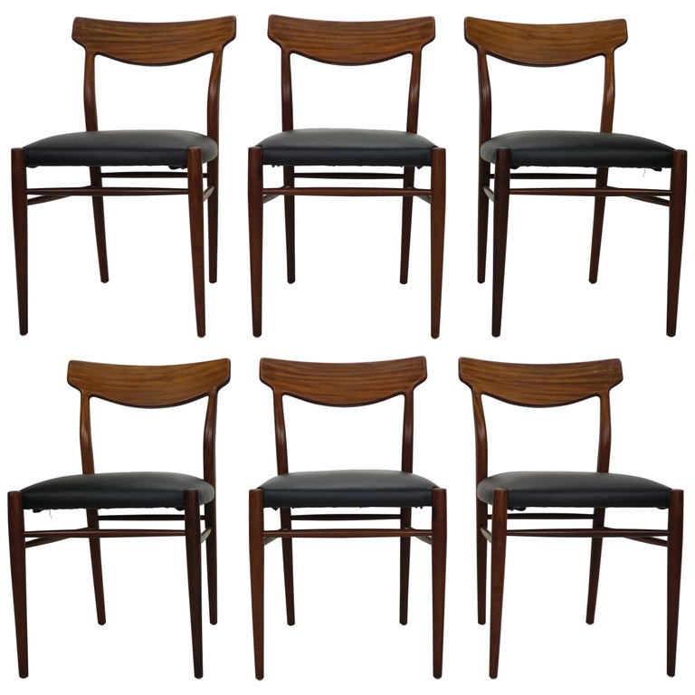 Scandinavian Dining Room Chairs: Set Of 6 Danish Modern Design Dining Room Chairs, 1960 For