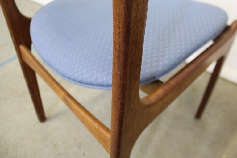 Set of 6 Danish Modern Erik Buch for O.D. Mobler Teak Dining Chairs For Sale 5