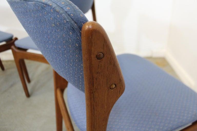 Set of 6 Danish Modern Erik Buch for O.D. Mobler Teak Dining Chairs For Sale 6