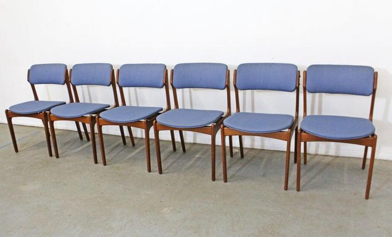 Scandinavian Modern Set of 6 Danish Modern Erik Buch for O.D. Mobler Teak Dining Chairs For Sale