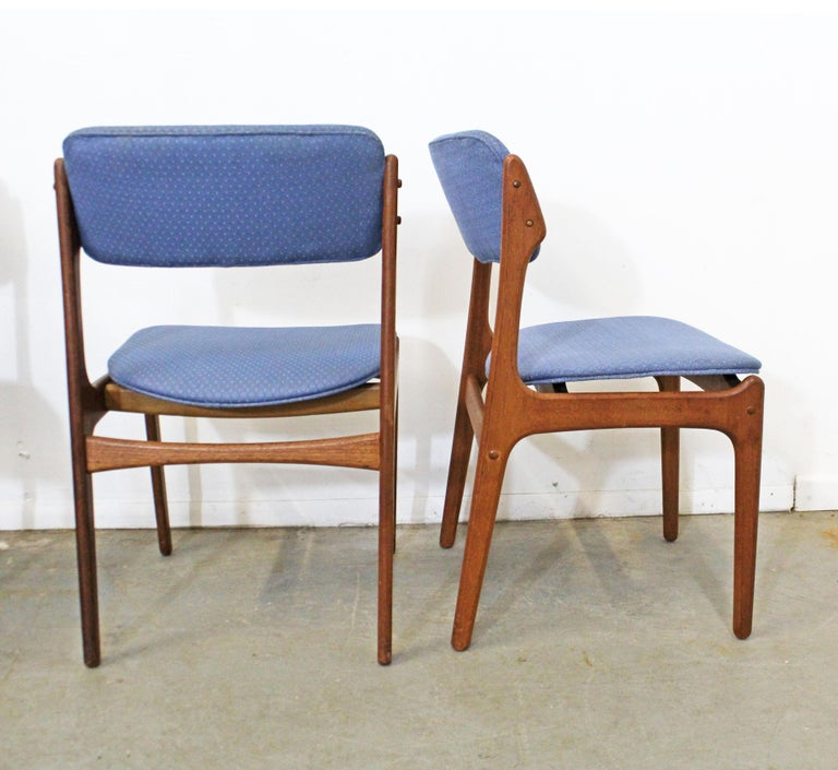 Set of 6 Danish Modern Erik Buch for O.D. Mobler Teak Dining Chairs In Fair Condition For Sale In Wilmington, DE