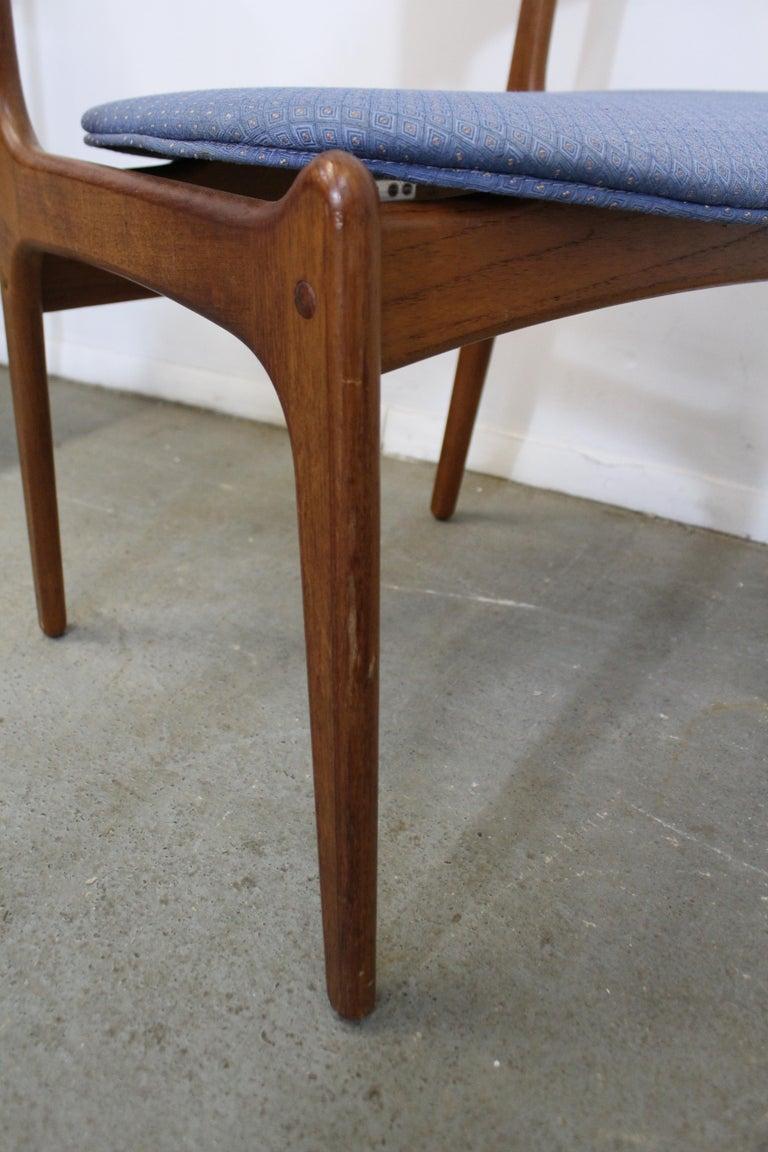 Set of 6 Danish Modern Erik Buch for O.D. Mobler Teak Dining Chairs For Sale 1