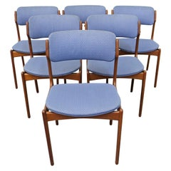 Set of 6 Danish Modern Erik Buch for O.D. Mobler Teak Dining Chairs