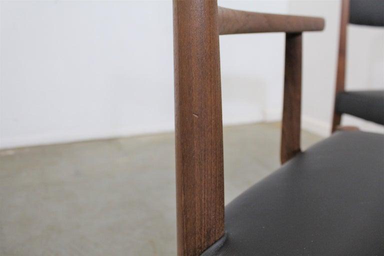 Set of 6 Danish Modern Povl Dinesen Teak/Leather Dining Chairs For Sale 5