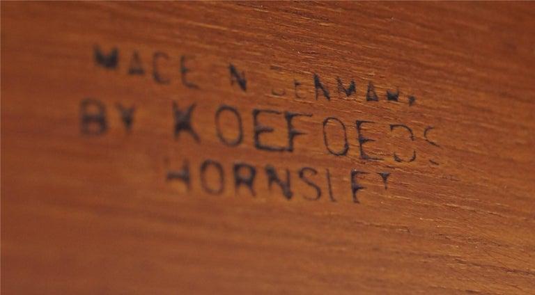 Set of 6 Danish Modern Teak Ladder Back Niels Koefoeds Dining Chairs Hornslet For Sale 5