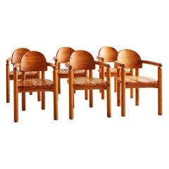 Set of 6 Danish Pine Dining Chairs by Rainer Daumiller