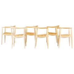 Set of 6 Danish PP501 Round Chairs in Ash by Hans J. Wegner for PP Møbler