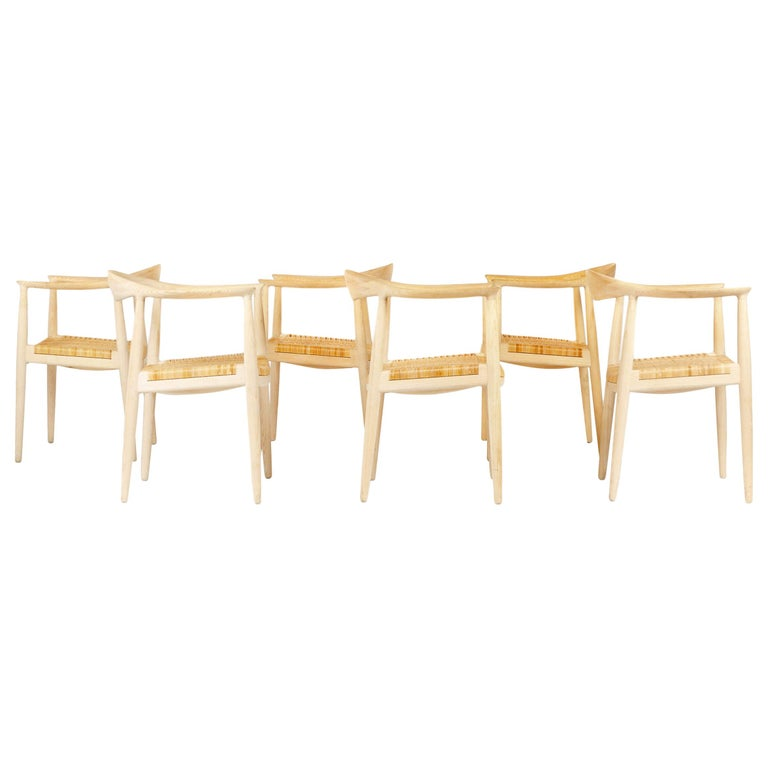 Set of 6 Danish PP501 Round Chairs in Ash by Hans J. Wegner for PP Møbler For Sale