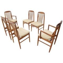 Set of 6 Danish Teak Mid-Century Modern Dining Chairs
