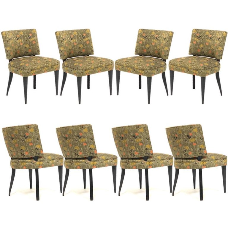 Silk Set of 6 Deco Gilbert Rohde for Herman Miller Paldao Group Dining Chairs, 1940s
