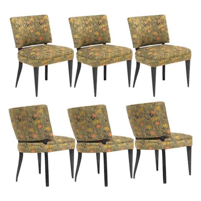 Set of 6 Deco Gilbert Rohde for Herman Miller Paldao Group Dining Chairs, 1940s