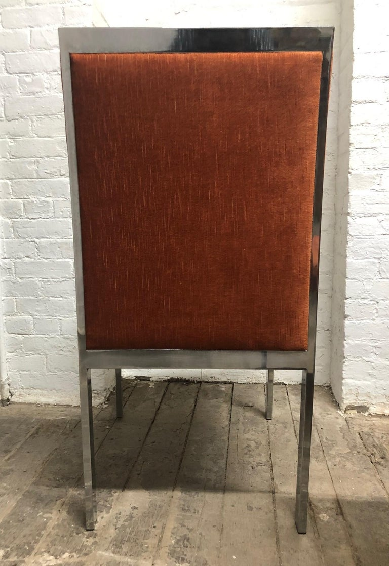 Set of 6 Design Institute of America Chrome Dining Chairs In Good Condition For Sale In New York, NY
