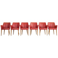 Set of 6 Dining Armchairs, Design by Amadeo Cassina, Italy, 1950s
