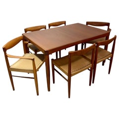 Set of 6 Dining Chairs and Dining Table in Teak by H.W. Klein and Bramin, 1960s