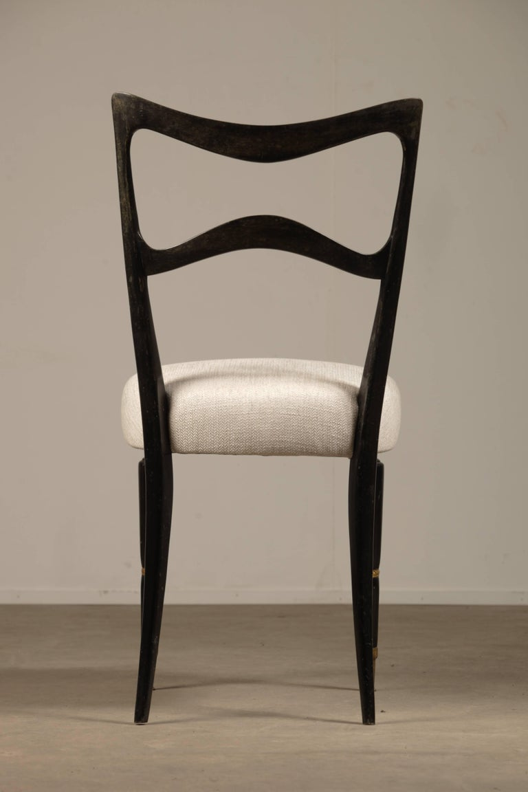 Italian Set of Six Dining Chairs Attributed to Osvaldo Borsani For Sale