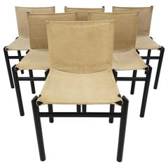 Set of 6 Dining Chairs by Afra & Tobia Scarpa, Italy, 1970's