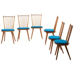 Set of 6 Dining Chairs by Albert Haberer for Hermann Fleiner, Germany, 1950s