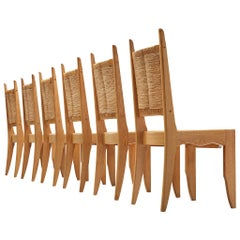 Set of 6 Dining Chairs by Guillerme et Chambron