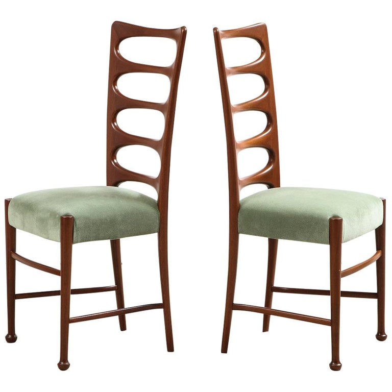 Paolo Buffa dining chairs, 1955, offered by Donzella