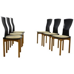 Set of 6 Dining Chairs Designed by Francesco Binfaré for Cassina, Italy, 1980s