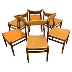 Set of 6 Dining Chairs from France