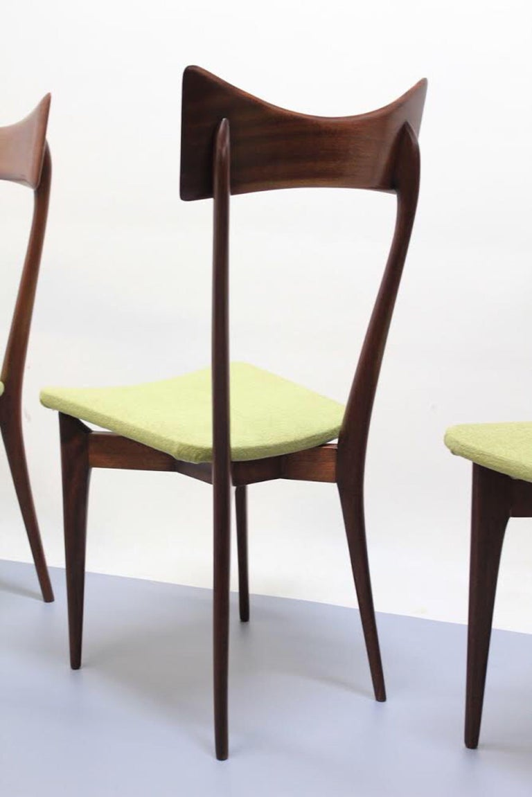 Italian Set of 6 Dining Chairs, Ico Parisi and Luisa Parisi Design for Ariberto Colombo For Sale