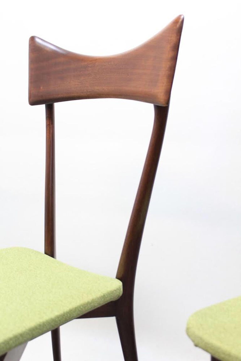 Set of 6 Dining Chairs, Ico Parisi and Luisa Parisi Design for Ariberto Colombo In Good Condition For Sale In Lonigo, IT