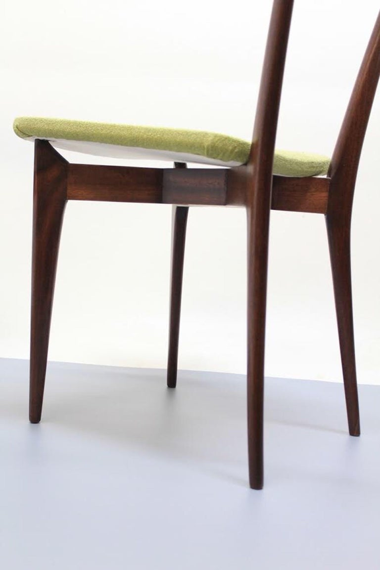 Mid-20th Century Set of 6 Dining Chairs, Ico Parisi and Luisa Parisi Design for Ariberto Colombo For Sale