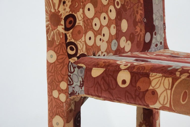 Set of 6 Dining Chairs in Jack Lenor Larsen Upholstery Fabric Midcentury Modern For Sale 3