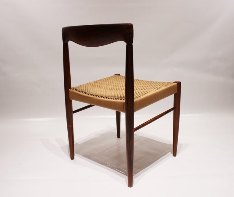 Danish Set of 6 Dining Chairs in Rosewood, by H.W. Klein and Bramin, 1960s For Sale