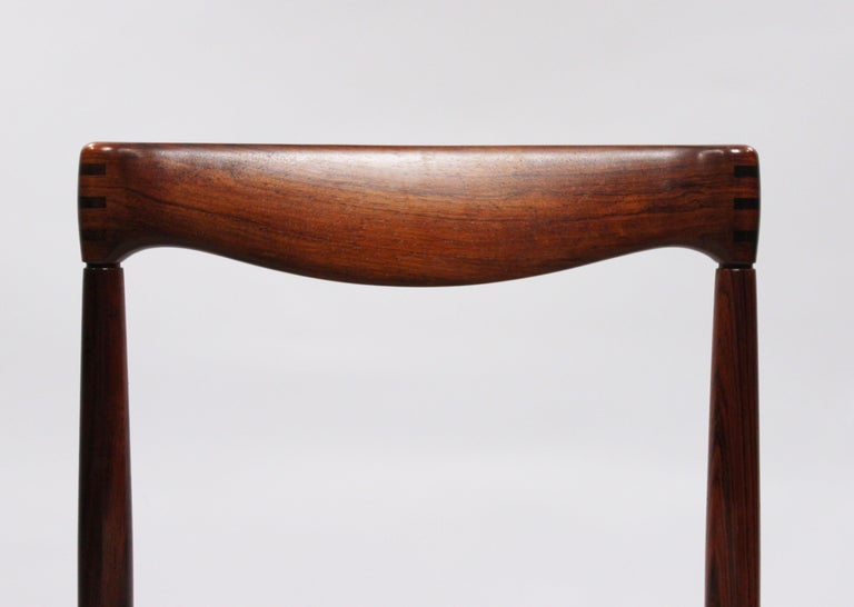 Mid-20th Century Set of 6 Dining Chairs in Rosewood, by H.W. Klein and Bramin, 1960s For Sale